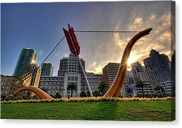 Canvas Print featuring the photograph Cupid's Span by John Maffei