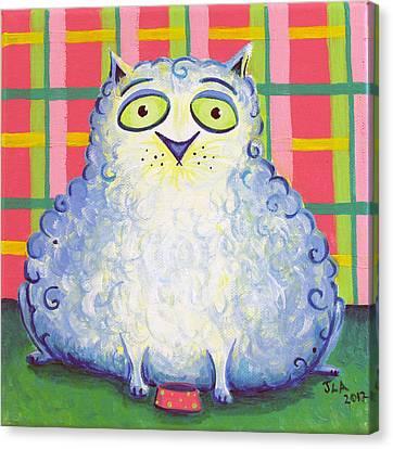Curly Cat Canvas Print by Jennifer Alvarez