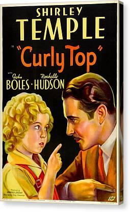 Curly Top, Shirley Temple, John Boles Canvas Print by Everett