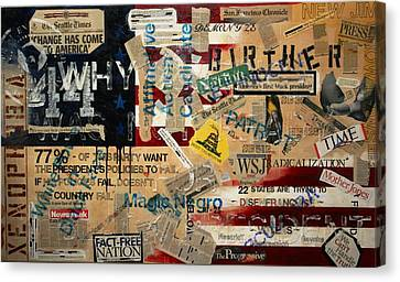 Racism Canvas Print - Current Events by A Diaz