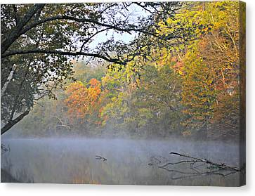 Current River Fall 44r Canvas Print by Marty Koch