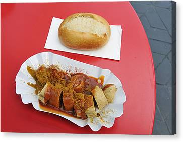 Fast Food Canvas Print - Currywurst - German Food - Curried Sausage by Matthias Hauser