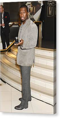 Curtis Jackson, Aka 50 Cent At In-store Canvas Print by Everett