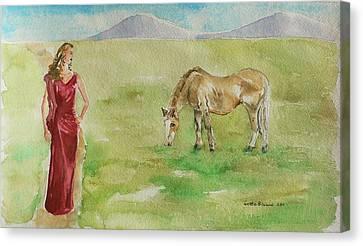 Curves Canvas Print by Geeta Biswas