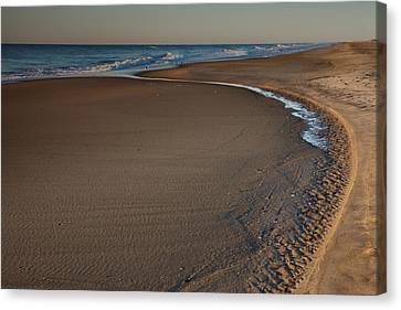 Curving To The Sea II Canvas Print by Steven Ainsworth