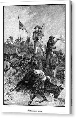 Custers Last Fight Canvas Print by Granger