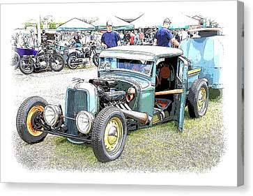 Custom 32 Ford Pickup Canvas Print by Steve McKinzie