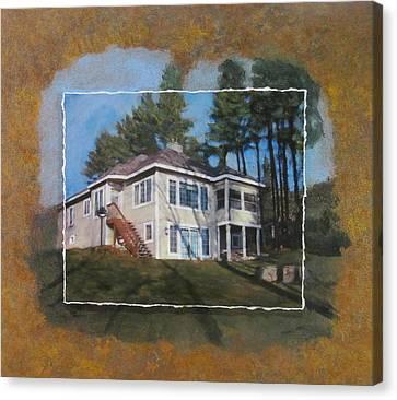 Custom Home 1 Layered Canvas Print