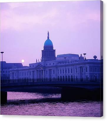 Dublin Building Colors Canvas Print - Custom House, Dublin, Co Dublin, Ireland by The Irish Image Collection
