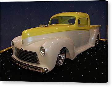Canvas Print featuring the photograph Custom Hudson Pickup by Bill Dutting