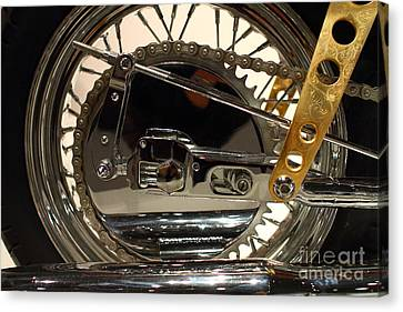 Custom Motorcycle Chopper . 7d13317 Canvas Print by Wingsdomain Art and Photography