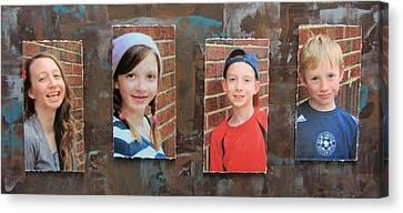 Custom Photo Portrait Group Canvas Print