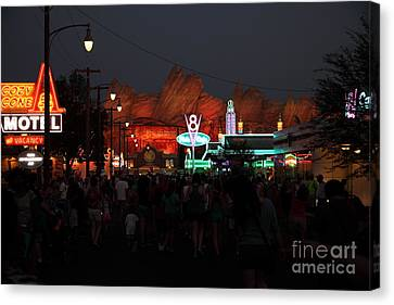 Customers . We Have Customers At Radiator Spring - 5d17762 Canvas Print by Wingsdomain Art and Photography