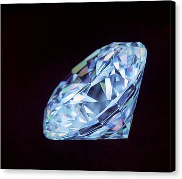 Cut Diamond Canvas Print by Lawrence Lawry