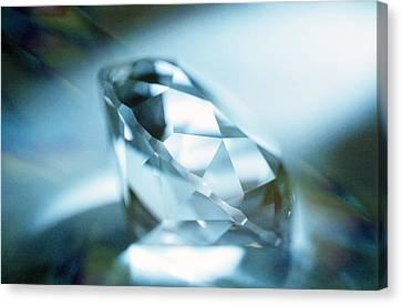 Cut Diamond Canvas Print by Pasieka