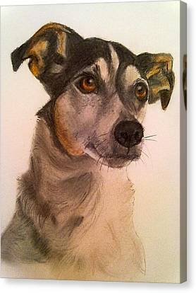 Cute Jack Russell Canvas Print by Diane Leuzzi