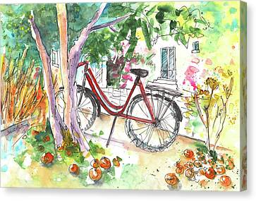 Cycling In Cyprus Canvas Print by Miki De Goodaboom