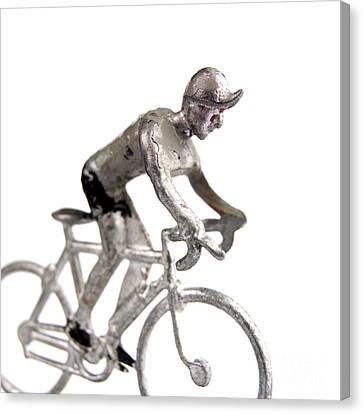 Cyclist Canvas Print by Bernard Jaubert