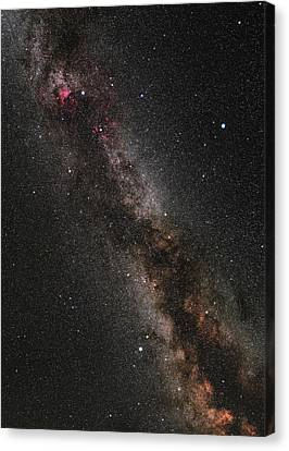 Cygnus, Lyra And The Great Rift Canvas Print by Eckhard Slawik