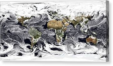 Cylindrical Equidistant Projection Canvas Print