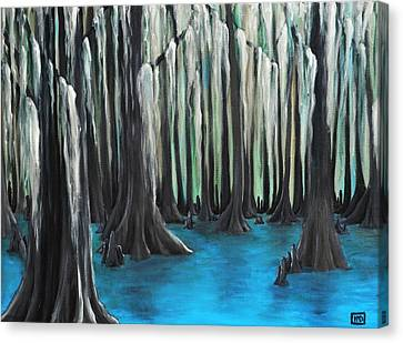 Cypress Spring Canvas Print by Holly Donohoe