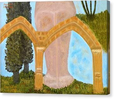 Larnaca Canvas Print - Cyprus Abbey Of Bellapais by Augusta Stylianou