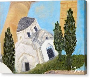 Larnaca Canvas Print - Cyprus Church Of Saint Andronikos by Augusta Stylianou