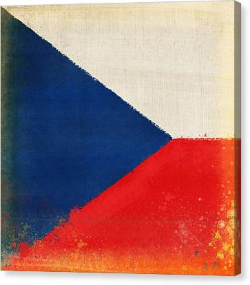 Czech Republic Flag Canvas Print by Setsiri Silapasuwanchai