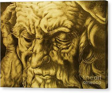 Da Vinci Sketch Canvas Print by Pg Reproductions
