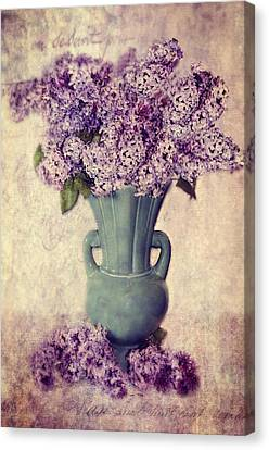 Daddy's Lilacs Series Vi Canvas Print by Kathy Jennings