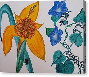Daffyclem Canvas Print by Joy Sparks