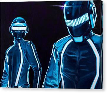 Tron Canvas Print - Daft Punk by Ellen Patton