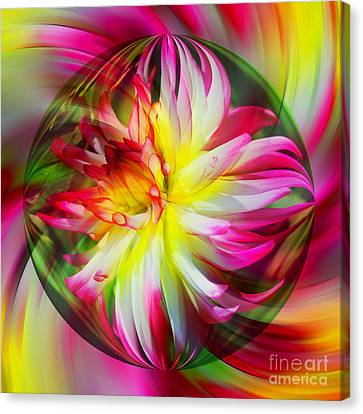 Dahlia Flower Energy Canvas Print