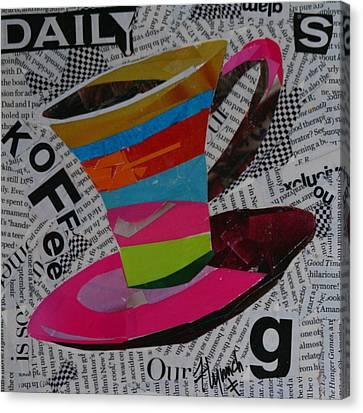 Daily Koffee Canvas Print by Lynn Chatman