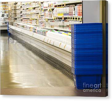 Dairy Aisle In A Grocery Store Canvas Print