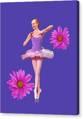 Ballet Canvas Print - Daisy Ballet by Delores Knowles
