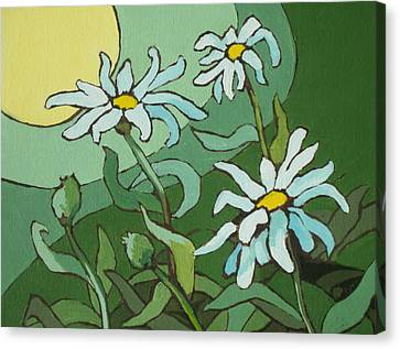 Sun Rays Canvas Print - Daisy Dance by Sandy Tracey