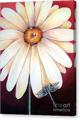 Daisy Dragonfly Canvas Print