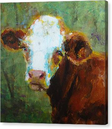 Canvas Print featuring the painting Daisy by Susan Fisher