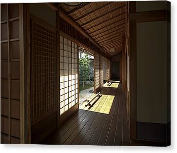 Daitoku-ji Zen Temple Veranda - Kyoto Japan Canvas Print by Daniel Hagerman