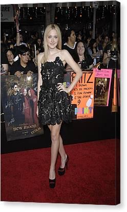 Dakota Fanning Wearing A Valentino Canvas Print