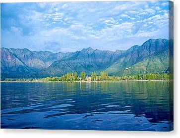 Dal Lake Canvas Print by Clicked By Aalok