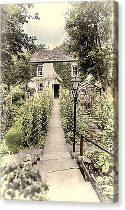 Canvas Print featuring the photograph Dales Cottage Yorkshire by Jack Torcello