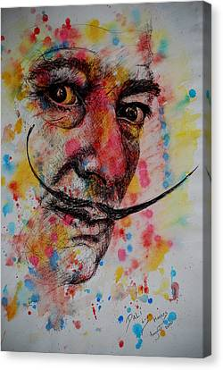 Canvas Print featuring the painting Dali by Lynn Hughes