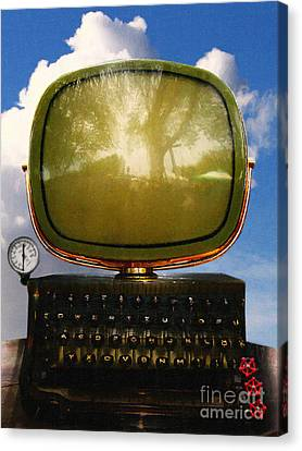 Dali.s Surreal Steampunk Personal Computer With Upgrades Canvas Print by Wingsdomain Art and Photography