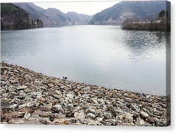 Fukushima Canvas Print - Dam Lake by Sot