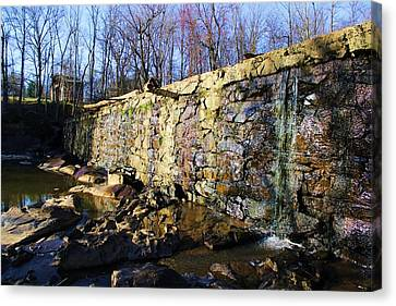 Dam On The River Haw Canvas Print