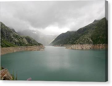 Dam Reservoir Canvas Print by Michael Szoenyi
