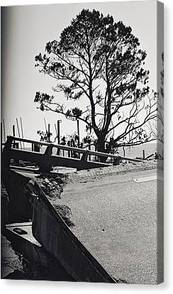 Damaged Bridge Canvas Print by Floyd Smith