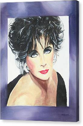 Dame Elizabeth Taylor Canvas Print by Cyndi Brewer